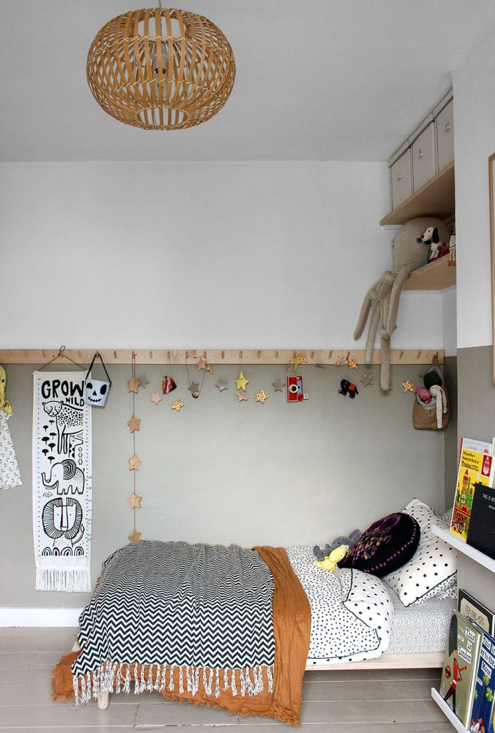 Boys bedroom, London interior design, London interior styling, earthy tones, muted colour palette